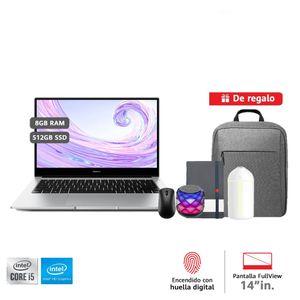 Laptop Huawei Matebook D14 i5 8GB RAM 512GB + Mochila + Mouse + Parlante + Libreta + Humidificador
