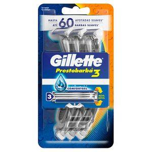 Máquinas Desechables Gel Gillette Prestobarba3  6 unidades