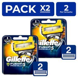 Cartuchos Gillette Fusion5 Proshield 2 unidades PackX2