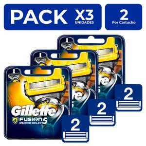 Cartuchos Gillette Fusion5 Proshield 2 unidades PackX3