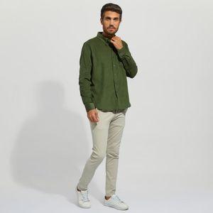 Camisa Manga Larga En Corduroy Hombre