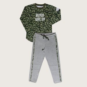 Pijama Para Niño Interlock Militar 87212