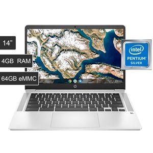 """Laptop HP Chromebook Pentium N5000 4gb 64gb eMMC 14"""" HD Reacondicionado"""