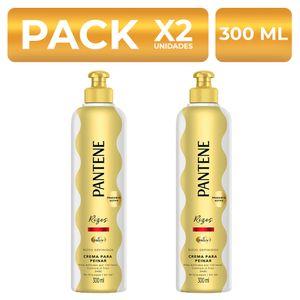 Crema para peinar Pantene Rizos Definidos 300ml PackX2