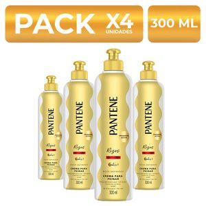 Crema para peinar Pantene Rizos Definidos 300ml PackX4