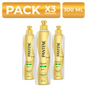 Crema para peinar Pantene Restauración 300ml PackX3