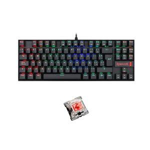 Teclado Mecánico Gamer Tkl Redragon Kumara Rgb K552 Black