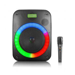 """Parlante Portátil Rainbow Eversound EV 1056 Bocina de 6.5"""" Iluminación Disco"""