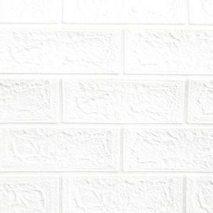 Ladrillo Blanco 3D Hogarama #19 Panel de Pared Autoadhesivo