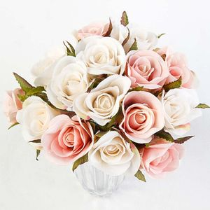 Mini Rosas Artificiales Hogarama Tela Rosadas