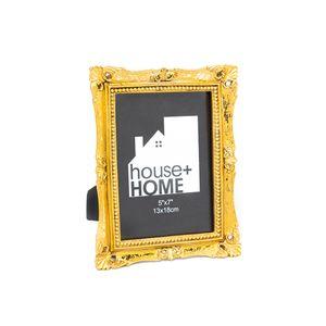 Portarretrato House & Home  Dorado 13x18cm  Poliresina