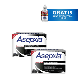 Pack Asepxia 2x Jabón en Barra Carbón 100 gr
