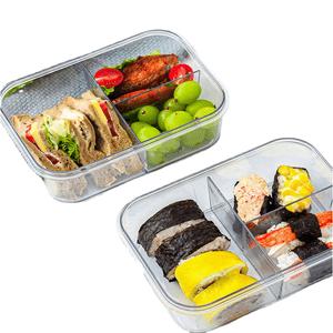 Set de 7 Tapers Herméticos Apilables Conservador de Alimentos Con División