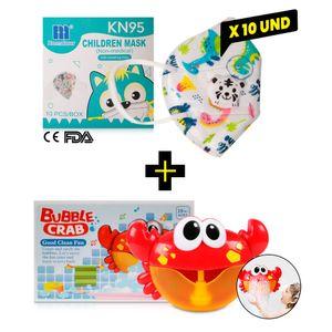 Juguete Máquina de Burbujas + KN95 para Niños con Filtro