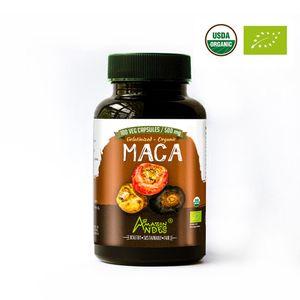 Maca Mix Organico Amazon Andes en Capsula Vegana 100 X 500mg Puro y Natural