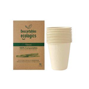 Descartable Compostable Vaso 200ml Pack x10