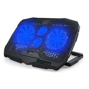 Cooler para Laptop S18 Cooling Pad 4 Ventiladores Luz Led Azul ajustable
