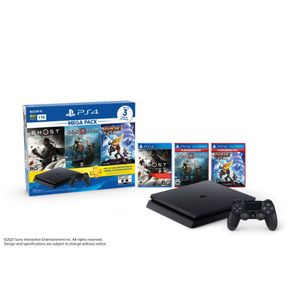 Ps4 Mega Pack 18 1TB + 3 Juegos Negro