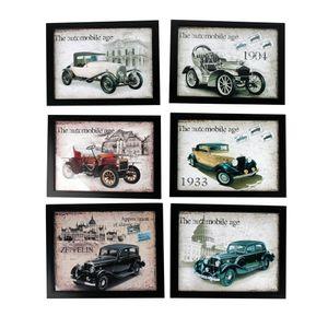 Imagen decorativa Auto Antiguo 25.4cm Homewell