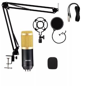 Micrófono Condensador Bm800 Soporte Pc Antipop Brazo Kit