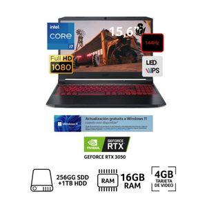 "Laptop Gamer Nitro 5 15.6"" Core i7 11800H 16GB RAM 1TB +256GB SSD 4GB Video RTX 3050"