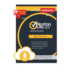 Norton VPN 5 dispositivos 1 Año