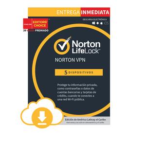 Norton VPN 5 dispositivos 3 Años