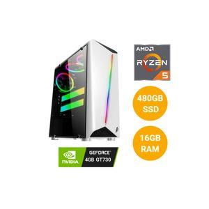 CPU PCYA AMD RYZEN 5 5600X 480GB SSD 16GB RAM MSI GT730 4GB NVIDIA GeForce PCI Express 2.0