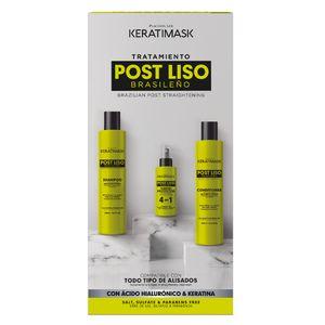 Placenta Life Keratimask Post Liso Brasileño Kit