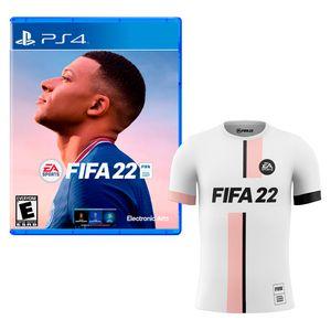 Videojuego PS4 Fifa 22 + Polo Blanco M Latam
