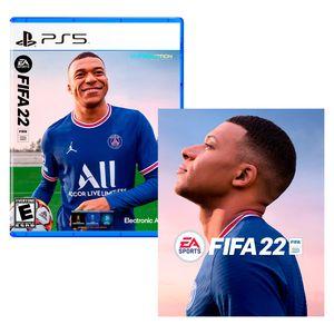 Videojuego PS5 Fifa 22 + Poster Latam