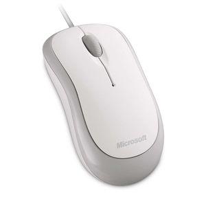 Mouse Óptico Microsoft con Cable USB Blanco
