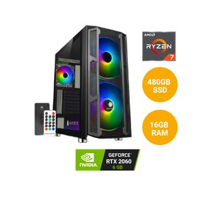 CPU PCYA AMD RYZEN 7 5800X 480GB SSD 16GB RAM 6GB Nvidia GeForce RTX 2060