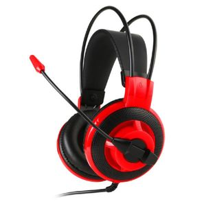 Headset Ms DS501 Wired Black Red