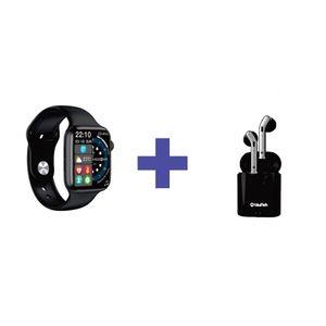 Combo Smart Watch W37 Serie 7 Bluetooth y Audifonos Bluetooth H17T - Negro