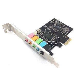 Tarjeta De Sonido Interna PCI Express 5.1 Chip CMI8769 8 Canales