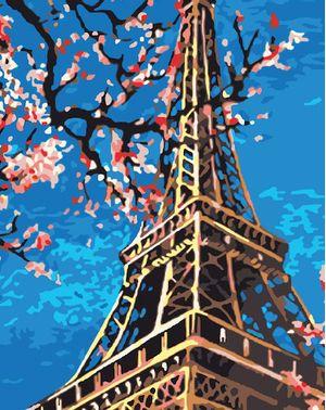Cuadro Lienzo para Pintar por Número Paint by Number Torre Eiffel