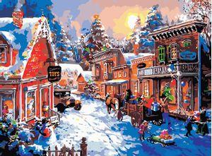 Cuadro Lienzo para Pintar por Número Paint by Number  Cuento de Navidad