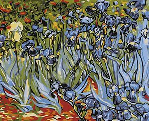 Cuadro Lienzo para Pintar por Número Paint by Number Irises - Van Gogh