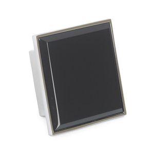 Tirador Zamac + Vidrio Negro 32x60x60 mm