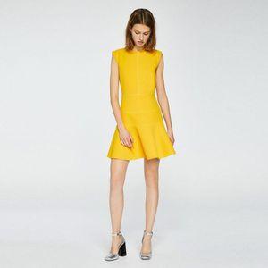 Vestido Doble Tela Amarillo