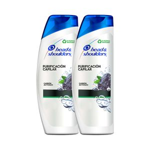 Pack 02 Shampoo Head & Shoulders Purificación Capilar Carbón Activado 375 ml