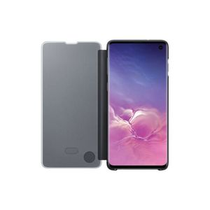 Protector Clear View Cover Galaxy S10 Negro