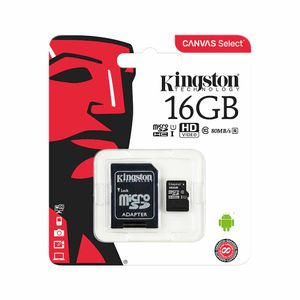 Memoria Micro SD Kingston 16GB C10