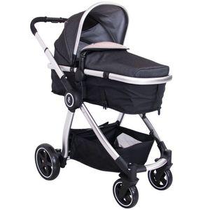 Coche Para Bebé Moises Marcel Deluxe Negro - EV159NG