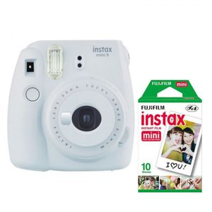 Fujifilm InstaxMini9 White +Fuji Instax Mini Film Twin Pack