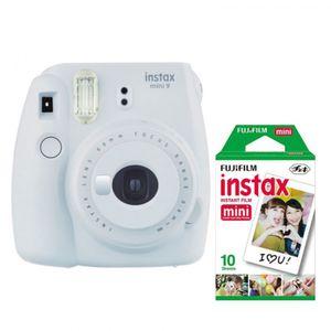 Fujifilm InstaxMini9 White +Fuji Instax Mini Film Twin Pack