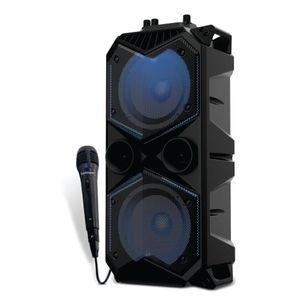 Parlante karaoke portátil bluetooth con micrófono Bowmann 30w