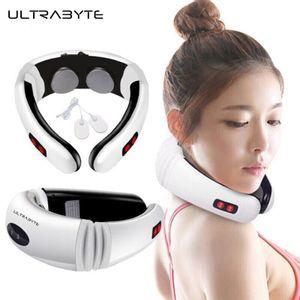 Masajeador Eléctrico Ultrabyte MY-518 con Electrodos y Discos Magnéticos 3D para el Cuello y Espalda