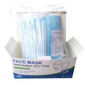 Mascarilla Importada Face Mask  De 3 Pliegues y Capas por 50 Und